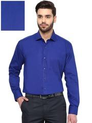 DENNISON Men Blue Comfort Fit Solid Formal Shirt