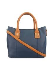 Toteteca Navy Blue Solid Shoulder Bag