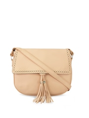 Toteteca Peach-Coloured Solid Sling Bag