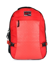 Impulse Unisex Red Quilted Backpack