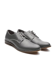 United Colors of Benetton Men Grey Genuine Leather Formal Shoes