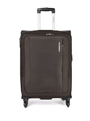 Pronto Unisex Coffee Brown Medium Space + 4 W Spinner 67 Trolley Bag Pronto Trolley Bag available at Myntra for Rs.5032