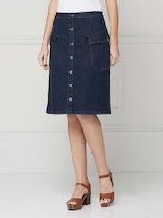 Knee Length Denim Skirt - Buy Knee Length Denim Skirt online in India