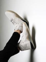 3c9f37f71715 Adidas Originals Men Off-White Tubular Instinct Leather Mid-Top Sneakers