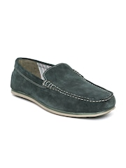 Woodland ProPlanet Men Teal Green Suede Loafers Woodland Casual Shoes available at Myntra for Rs.2495