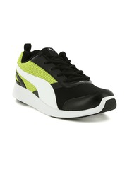 Men Black Fettle Mesh Running Shoes