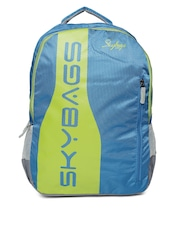 Skybags Unisex Blue Green Brand Logo Print Backpack Skybags Backpacks  available at Myntra for Rs. 91a176433fb02