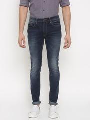 V Dot by Van Heusen Men Blue Rock Skinny Fit Mid-Rise Clean Look Stretchable Jeans