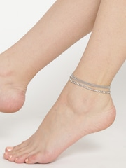 taraash cid anklet buy medium sterling silver product toe jewellery rings anklets