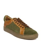 Ruosh Men Green & Brown Publico7A Suede Sneakers