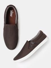 Roadster Men Brown Slip-On Sneakers