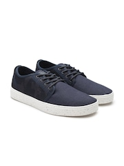 United Colors of Benetton Men Navy Camouflage Print Sneakers