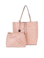 Fur Jaden Pink Tote Bag With Sling