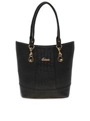 ESBEDA Black Textured Shoulder Bag