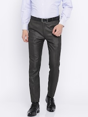 RG DESIGNERS Men Brown Pencil Slim Fit Formal Trousers
