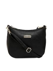 ESBEDA Black Solid Sling Bag