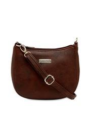 ESBEDA Brown Solid Sling Bag