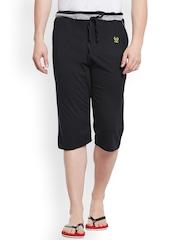 Vimal Black Lounge Shorts C8-BLACK01