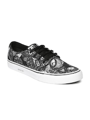 white dc shoes for men. dc men black \u0026 off-white printed sneakers white dc shoes for e