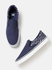 Kook N Keech Men Navy Blue Slip-On Sneakers