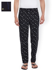 VIMAL Pack of 2 Black Lounge Pants D1PR1B_D9BT_02