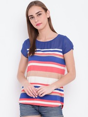 OPt Women Multicoloured Striped Top