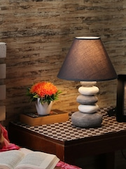 Lamps online buy table lamps wall lamps and lamp shades myntra house of accessories grey table lamp with shade aloadofball Image collections