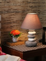 Table lamps buy table lamps online in india house of accessories grey table lamp with shade mozeypictures Images