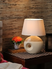 Table lamps buy table desk lamps online in india myntra house of accessories beige white table lamp with shade mozeypictures Gallery