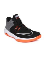 Nike Men Black Grey Air Versitile Ii Basketball Shoes