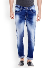 Globus Men Blue Regular Fit Mid-Rise Clean Look Jeans