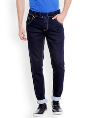 Globus Men Blue Straight Fit Mid-Rise Clean Look Jeans