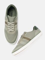Roadster Men Olive Green & Brown Sneakers