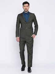 Peter England Brown Euro Fit Single Ted Suit