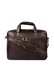 Impulse Uni Brown Textured Laptop Bag