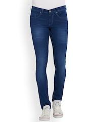 Globus Men Blue Skinny Fit Mid-Rise Clean Look Jeans