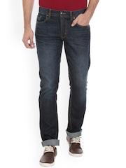VUDU Men Navy Blue Slim Fit Mid-Rise Clean Look Jeans