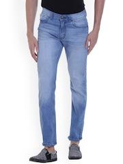 VUDU Men Blue Slim Fit Mid-Rise Clean Look Jeans