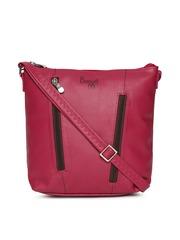 Baggit Pink Solid Sling Bag