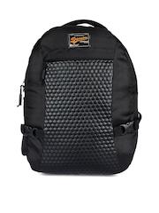 Impulse Unisex Black Textured Backpack