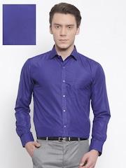 RG DESIGNERS Men Blue Slim Fit Solid Formal Shirt