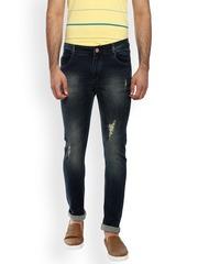 FEVER Men Blue Slim Fit Mid-Rise Mildly Distressed Stretchable Jeans
