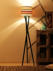 Grated Ginger Printed Handcrafted Floor Lamp with Shade