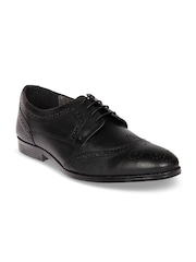 Knotty Derby Men Black Leather Formal Brogues