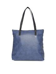 Baggit Blue Textured Shoulder Bag