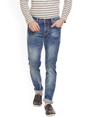 LaMODE Men Blue Relaxed Fit Mid-Rise Clean Look Stretchable Jeans