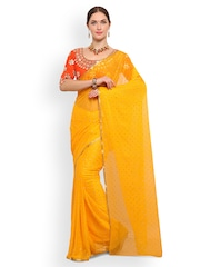 31ec7704daa10 Saree mall Yellow Embellished Poly Chiffon Saree