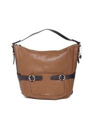Nine West Brown Solid Hobo Bag
