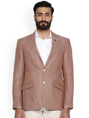 Raymond Men Brown Tailored Regular Fit Single-Breasted Formal Blazer