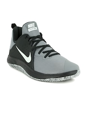 nike roshe run shoes - black/cool grey/white hallways